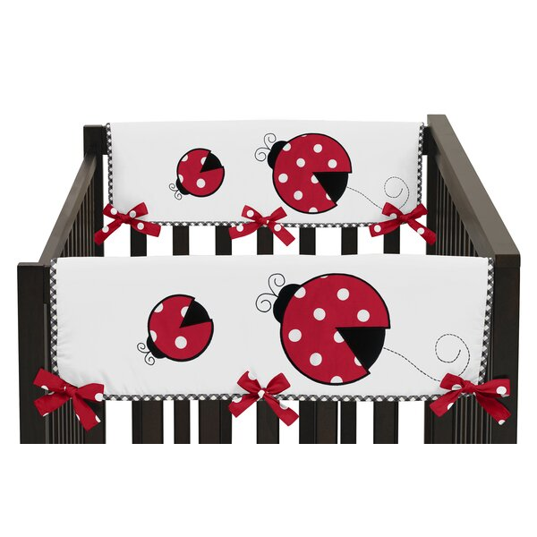 Polka Dot Ladybug Side Crib Rail Guard Cover (Set of 2) by Sweet Jojo Designs