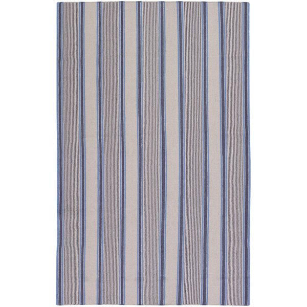 Farmhouse Stripes Navy/Blue Area Rug by Country Living™ by Surya