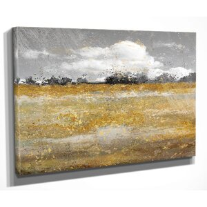 'Meadow Shimmer II' by Nan Painting Print on Wrapped Canvas by Wexford Home