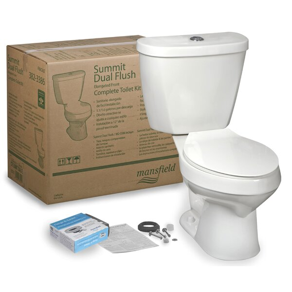 Summit CTK Dual Flush Elongated Two-Piece Toilet by Mansfield Plumbing Products