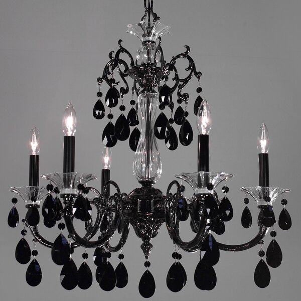 Via Lombardi 6-Light Candle Style Classic / Traditional Chandelier by Classic Lighting Classic Lighting