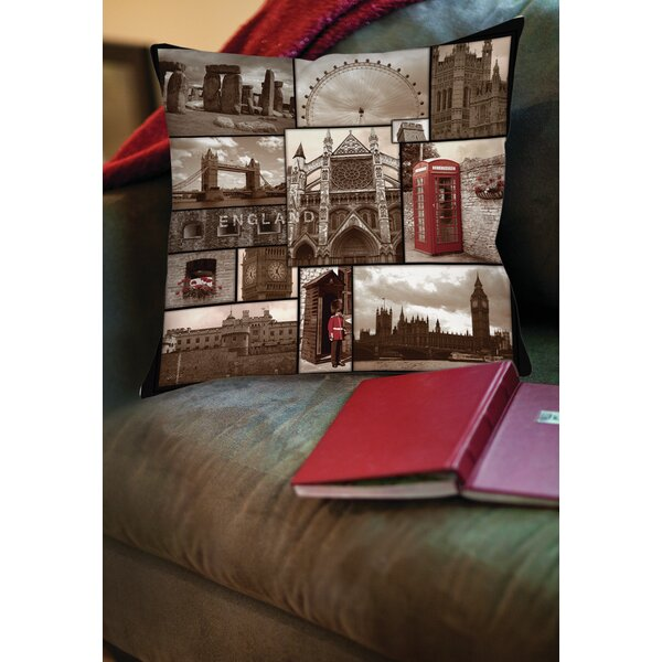 England Printed Throw Pillow by Manual Woodworkers & Weavers