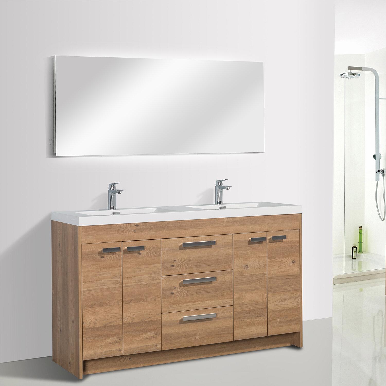 Light Wood Plastic Bathroom Vanities You Ll Love In 2021 Wayfair