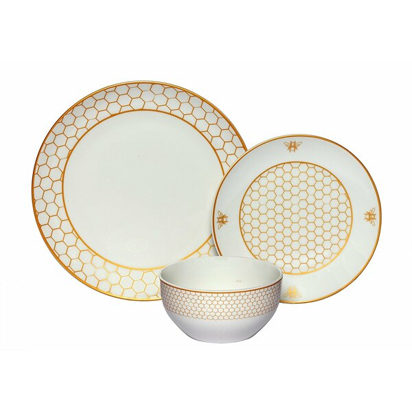 Rohan Honeycomb Coupe 36 Piece Dinnerware Set, Service for 12 (Set of 12) by Darby Home Co