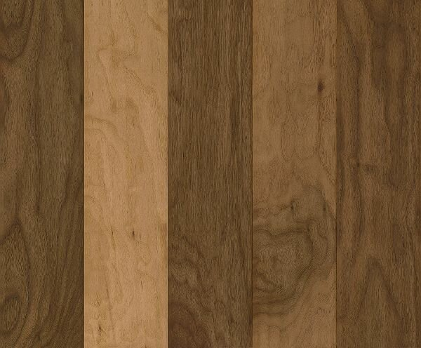 American Scrape 5-3/4 Engineered Walnut Hardwood Flooring in Natural by Armstrong Flooring
