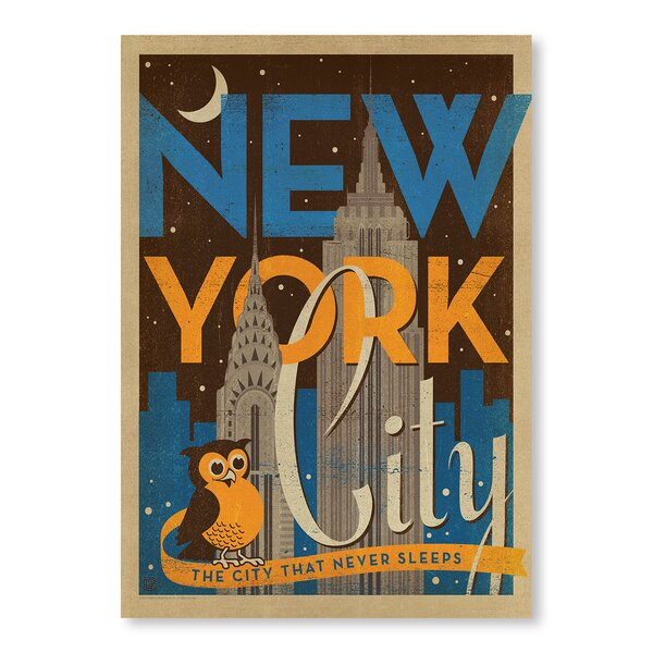 New York City Night Owl Vintage Advertisement by East Urban Home