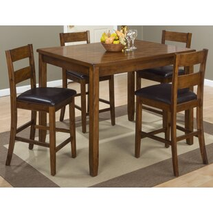 Good Stores For Ismael Wooden 5 Piece Counter Height Dining Set By Millwood Pines