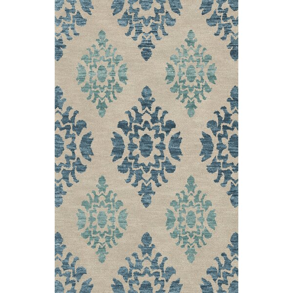 Bella Machine Woven Wool Beige/Blue Area Rug by Dalyn Rug Co.