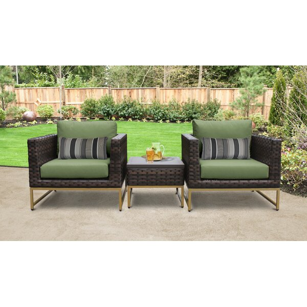 Mcclurg 3 Piece Seating Group with Cushions by Darby Home Co