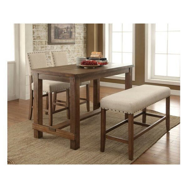 Duhon Contemporary Counter Height 4 Piece Pub Table Set by Gracie Oaks