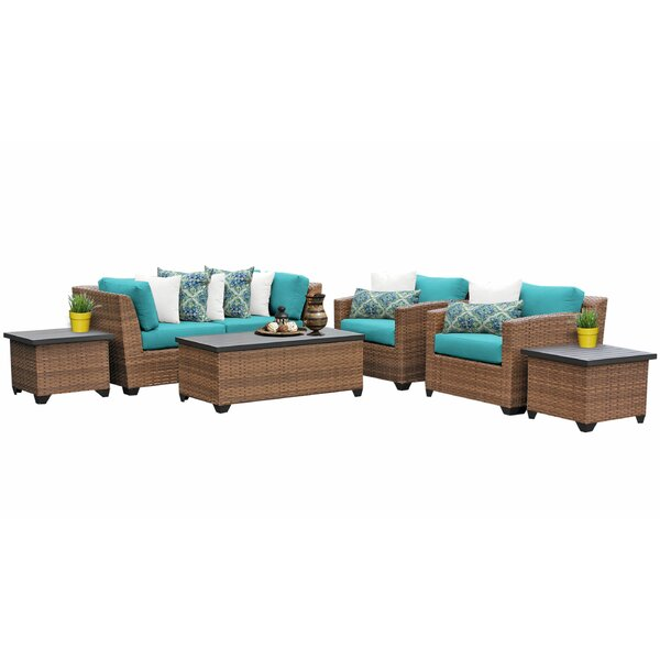 Waterbury 7 Piece Rattan Sofa Seating Group with Cushions by Sol 72 Outdoor