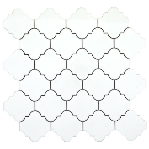 Vogue Lantern 3 x 3 Porcelain Mosaic Tile in Glossy White by Emser Tile