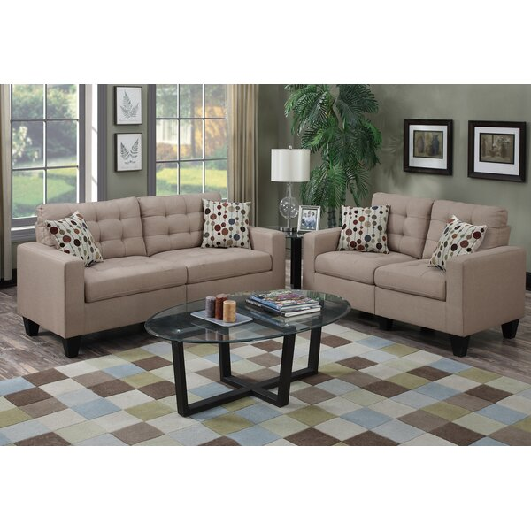 Zipcode design amia 2 piece living room set reviews for Wg r living room sets