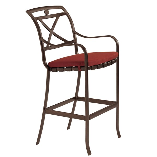 Palladian 29.5 Patio Bar Stool with Cushion by Tropitone