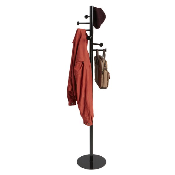 Free Standing 7 Hook Metal Coat Rack by Mind Reader
