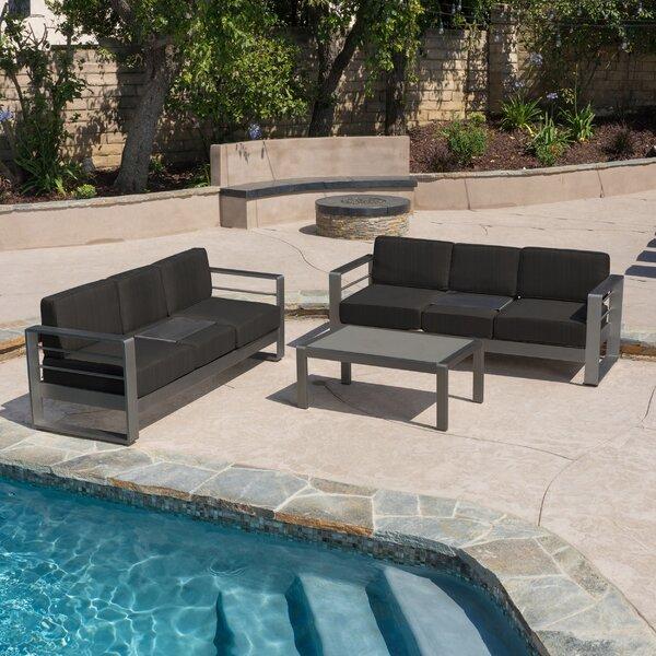 Crosstown 3 Piece Sofa Set with Cushions by Brayden Studio