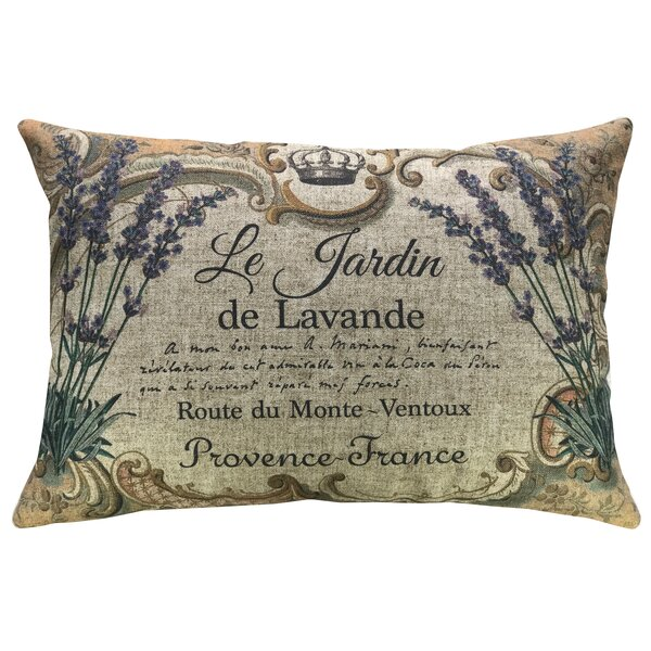 Krout Lavender Linen Throw Pillow by Ophelia & Co.