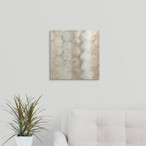 Neutral Circles III by Chris Paschke Painting Print on Wrapped Canvas by Great Big Canvas