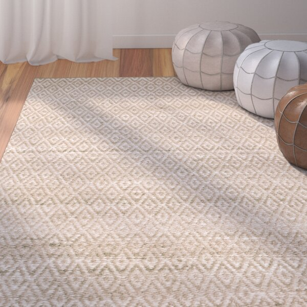 Azaria Hand-Woven Ivory Area Rug by Bungalow Rose