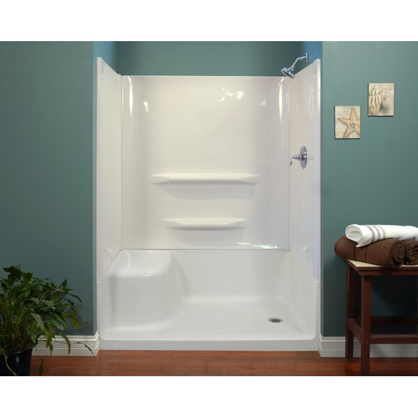 59 x 60 x 32 Shower Wall by Hazelwood Home