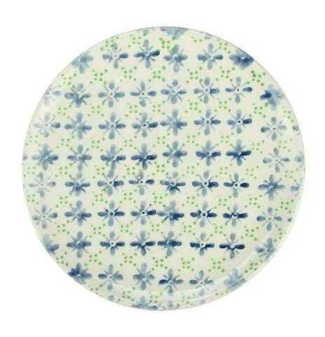 French Countryside 6.5 Decorative Flower Round Terracotta Dessert Plate by Northlight Seasonal