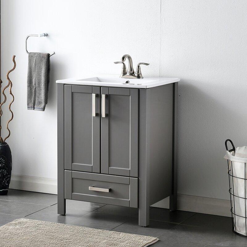 Breakwater Bay Landreth 25 Single Bathroom Vanity Set Reviews Wayfair