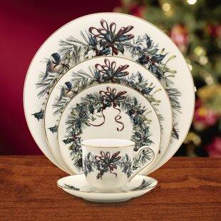 Lenox winter greetings china wayfair winter greetings bone china 5 piece place setting service for 1 by lenox m4hsunfo