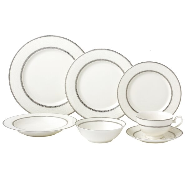 New 28 Piece Bone China Dinnerware Set Service for 4 by Lorren Home Trends