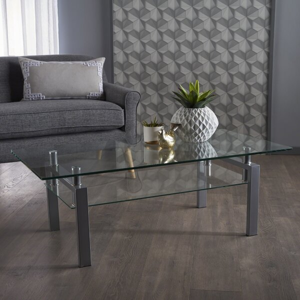 Washbourne Glass Coffee Table by Ebern Designs