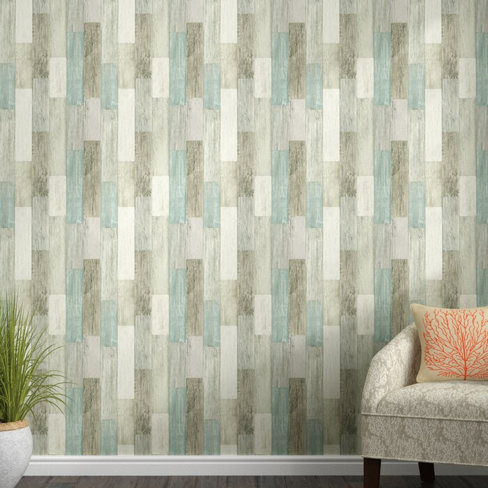 Chronister Coastal Weathered Plank 16 5 L X 20 5 W Wood And Shiplap Peel And Stick Wallpaper Roll