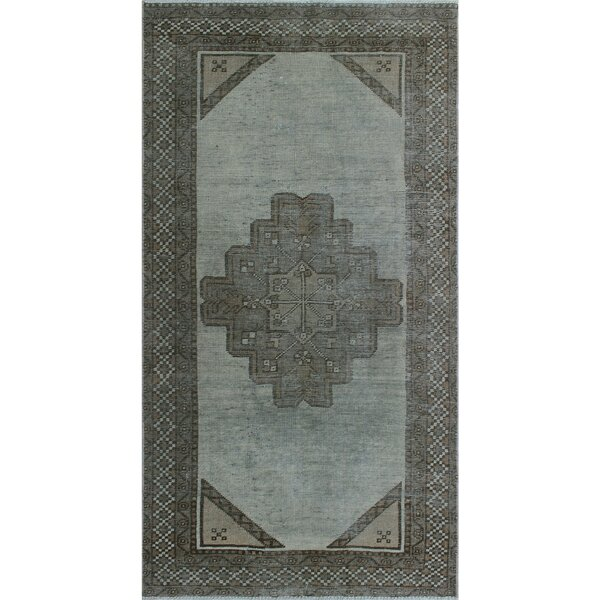 One-Of-A-Kind Brook Hand-Knotted Wool Gray Area Rug by Isabelline