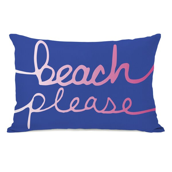 Beach Please Lumbar Pillow by One Bella Casa