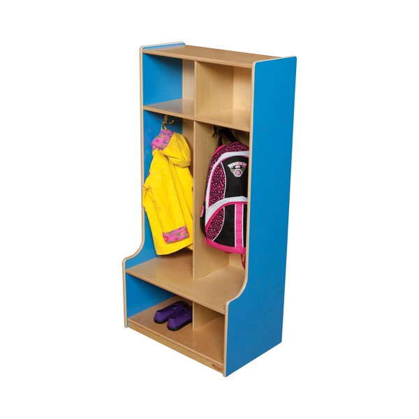 3 Tier 2 Wide Coat Locker by Wood Designs