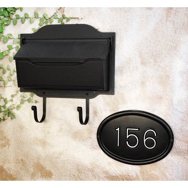 Contemporary Horizontal Wall Mount Mailbox with Address Plaque by Special Lite Products
