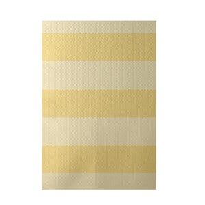 Stripe Yellow Indoor/Outdoor Area Rug