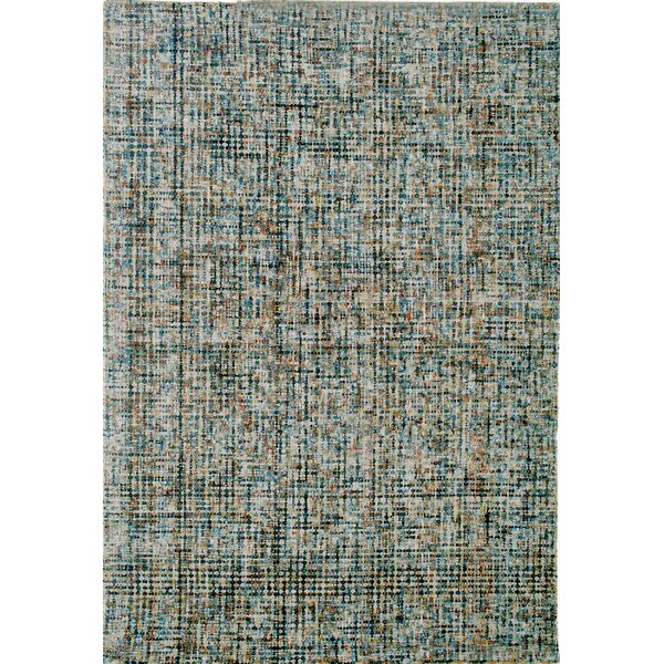 Rowley Hand-Tufted Blue/Brown Area Rug by Latitude Run