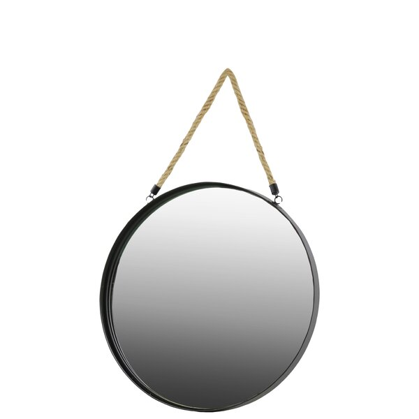 Clement Metal Round Coated Accent Mirror by Gracie Oaks