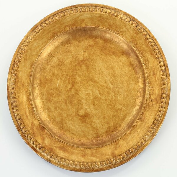 Marco Beaded Gilt 13 Charger Plate (Set of 4) by Bloomsbury Market