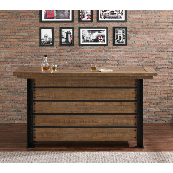 Spring Grove Reclaimed Wood Home Bar with Wine Storage by Loon Peak Loon Peak