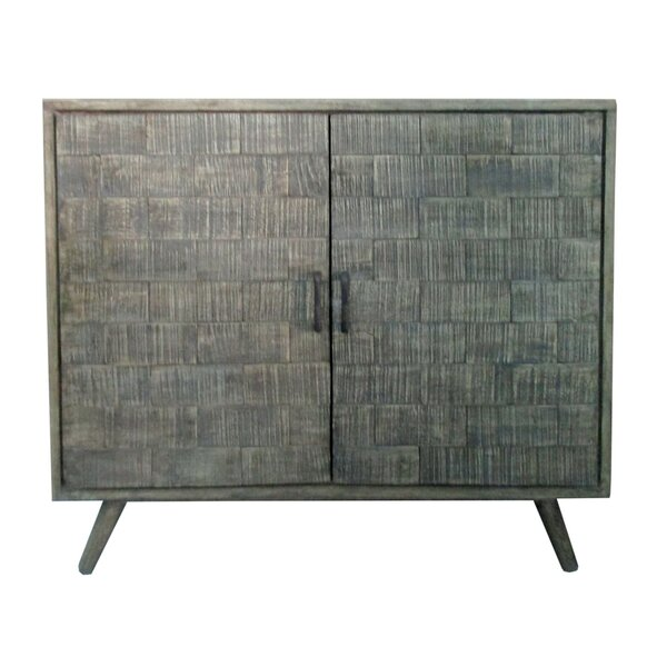 Kangley Mango Wood Tile 2 Door Accent Cabinet by Union Rustic Union Rustic