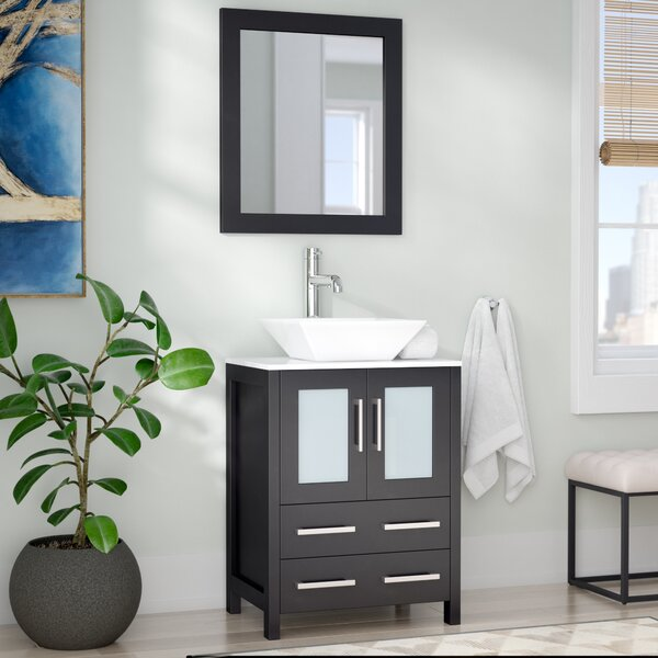 Kogan 24 Single Bathroom Vanity Set with Mirror by Zipcode DesignKogan 24 Single Bathroom Vanity Set with Mirror by Zipcode Design