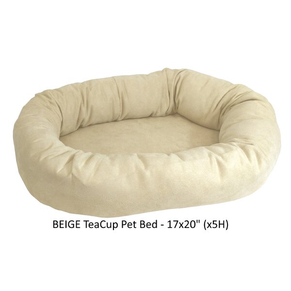 Charlie Faux Suede Bolster Dog Bed by Tucker Murphy Pet
