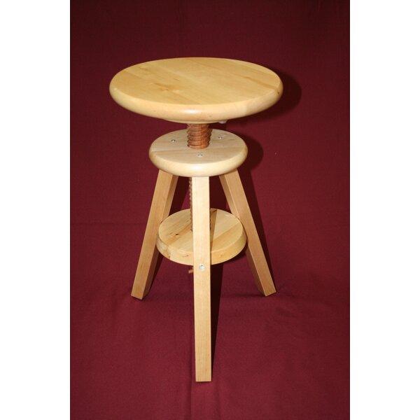 Wooden Adjustable Height Swivel Bar Stool by eHemco