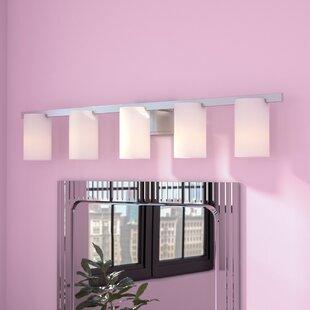 Compare prices Jefcoat 5-Light Vanity Light By Zipcode Design