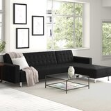 """Rosina 118.12"""" Faux Leather Reversible Sofa and Chaise"""