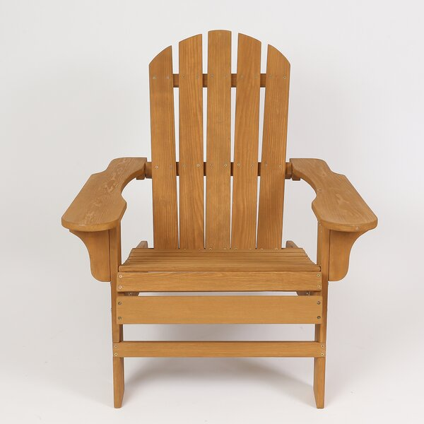 Chartier Solid Wood Adirondack Chair by Highland Dunes