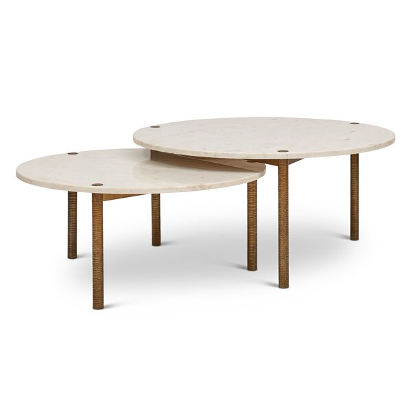 Muscogee 2 Piece Coffee Table Set by Bungalow Rose