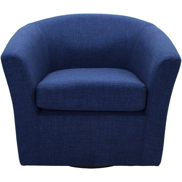 Peterson Swivel Barrel Chair by Zipcode Design