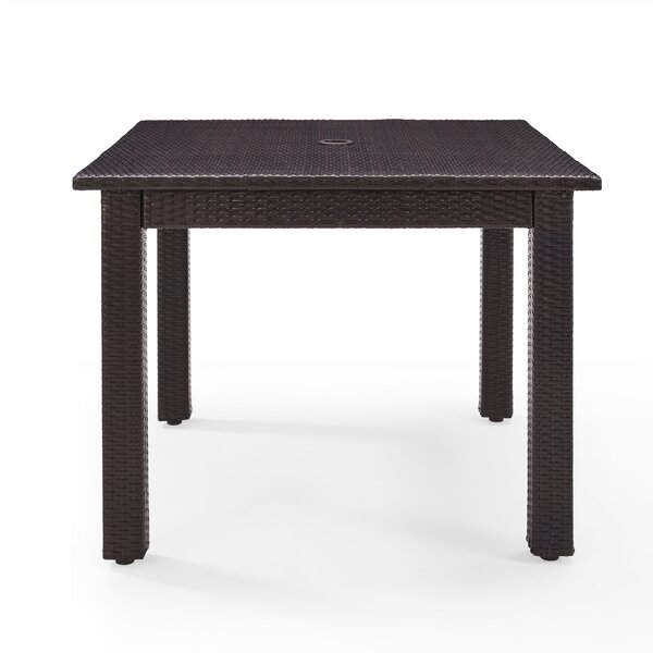 Belton Wicker Dining Table by Mercury Row