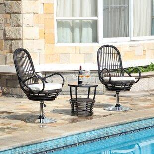 Fairwinds 3 Piece Conversation Set with Cushions by Orren Ellis